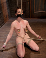 Kink On Demand - Nipple clamped sweety. Red...