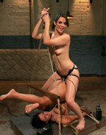 Kink On Demand - Tied up to two electrically...