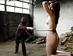An agressive bullwhipping action with...