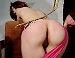 Brutal ass and back whipping with...