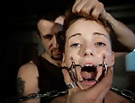 Chained and brutal punished Amy is a...