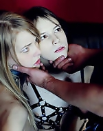 Kinky BDSM orgy. Blond slave gets...