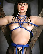 Venus gets tied, spanked attached to...