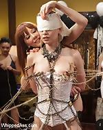 Lesbian BDSM orgy starring Justine...