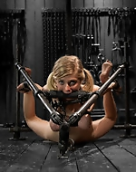 Nice tight pussy in BDSM. Huge Ts...