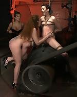 Strict girls, shocking bondage. Anal...