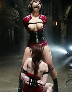 Tight water bondage babes. Two hot...